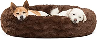 Best Friends by Sheri Lux Fur Donut Cuddler (Multiple Sizes) –Round Donut Cat and Dog Cushion Bed, Orthopedic Relief, Self-Warming and Cozy for Improved Sleep - Prime, Machine Washable, Water-Resistant Bottom
