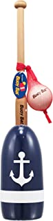 Maine Lobster Buoy Bat & Ball Set - Navy White Anchor