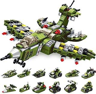 اسباب بازی های ساختمانی VATOS STEM ، 576 PCS اسباب بازی های بنیادی Warcraft STEM برای پسران 6 ساله مهندسی 25 در 1 آجر ساختمان آجرهای ناوشکن جنگنده وسایل نقلیه بلوک کیت بهترین هدایا برای کودکان 5 6 7 8 9 10 11 12 سال قدیمی