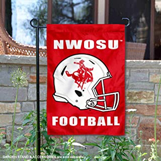College Flags and Banners Co. Northwestern Oklahoma State Rangers Football Helmet Garden Yard Flag