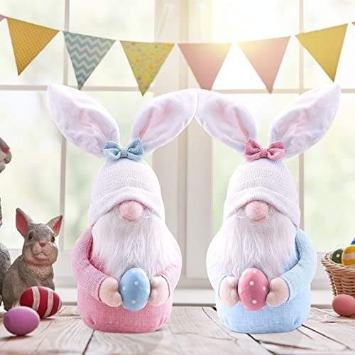 high quality OPTIMISTIC 2 PCs Easter Gnome Decor Bunny with Easter Egg, Handmade Plush Easter Faceless discount Ornaments Holding Egg, Bunny Gnomes Ornaments, Easter outlet sale Desktop Bunny Easter Gnome, Home Spring Decor outlet online sale
