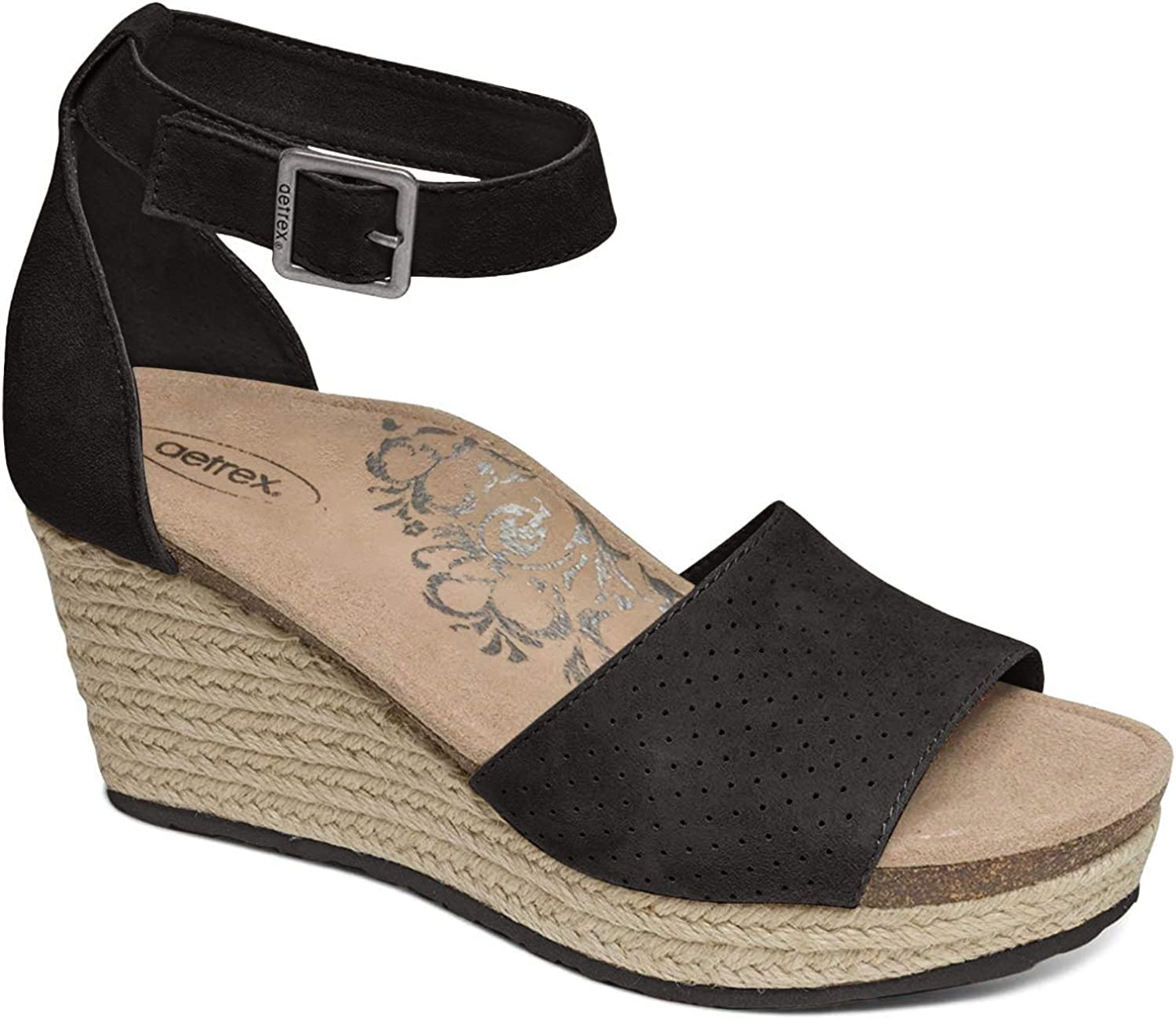 Aetrex Miley Ankle Dealing full price reduction Strap Arch Espadrille favorite Support Wedge
