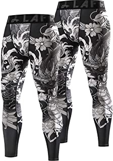 LAFROI Men's Quick Dry Cool Compression Fit Tights Leggings Waistband-YSK08