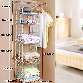 NEEJAN Clothes Storage Racks Dormitory Closet for Students Wardrobe Shelves Underwear, Socks, Scarf, t-Shirt, etc. Hanging Organizer Storage Holders & Racks - White
