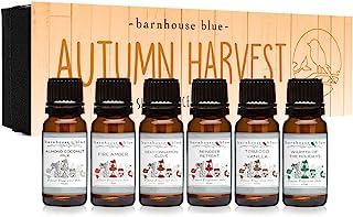 Autumn Harvest Gift Set of 6 Premium Fragrance Oils - Almond Coconut Milk, Fire Amber, Sexy Cinnamon Clove, Reindeer Retre...