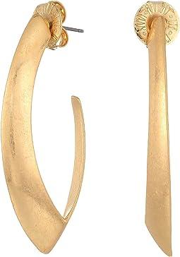 Gold Open Hoop Earrings
