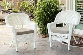 cheap white wicker chair
