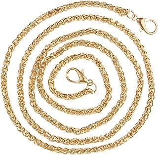 Prettyia 120cm Twisted Metal Iron Chain Handbag Purse Strap Buckles DIY Crossbody Bag Accessories