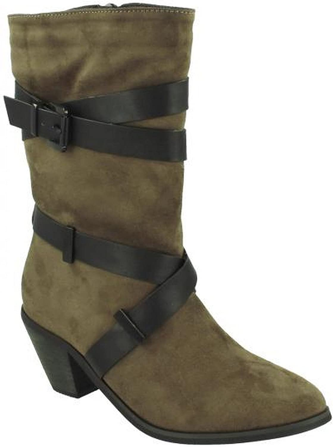 Spot On Womens Ladies Mid Calf Boots