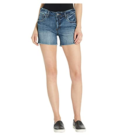 KUT from the Kloth Gidget Fray Shorts in Openminded w/ Medium Base Wash (Openminded w/ Medium Base Wash) Women