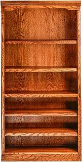 Forest Designs Standard Bookcase, 36W x 13D x 72H, Golden Oak