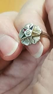 1940 MASONIC EASTERN STAR 14K WHITE GOLD RING- 1