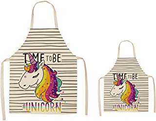 TripleL4U Unicorn Apron Parent and Child Set - Mom and Me - Mommy and Me - Dad and Me - Daddy and Me - Used for Baking Coo...