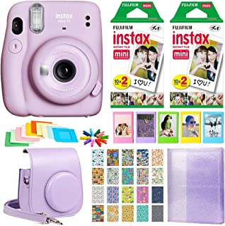 Fujifilm Instax Mini 11 Instant Camera + 2 Twin Pack Film + Album + Case + Hanging Frames + Plastic Frames + Travel Sticke...