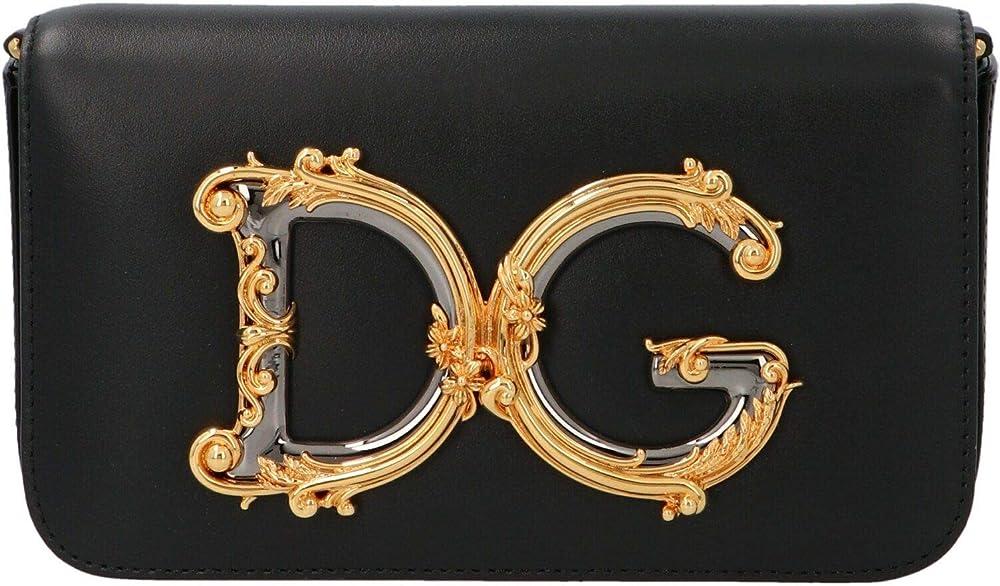 Dolce & gabbana luxury fashion,borsa a spalla  per donna,in vera pelle al 100 % BB6885AW57680999