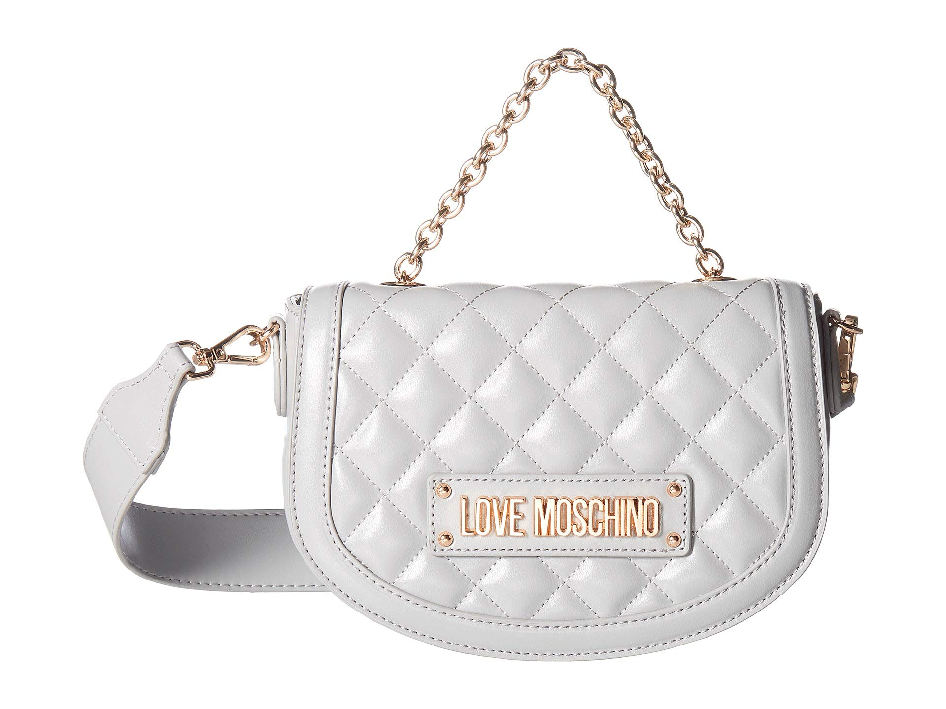 Love Shiny Grey Moschino Crossbody Quilted pwURPrTxqp