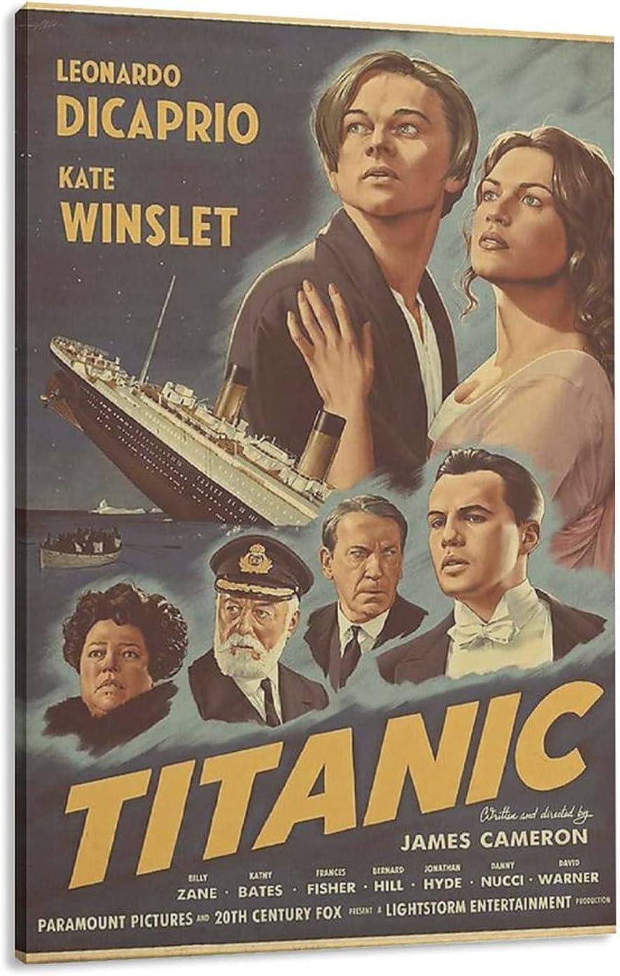 Titanic Overseas parallel import regular item 1997 Film Canvas Poster Sports Decor Bedroom Landscape Beauty products