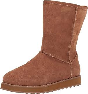 حذاء برقبة للطقس البارد من سكيتشرز كيبسايكس 2.0 - فيرست فلوريري، من جلد الغزال العلوي سهل السحب