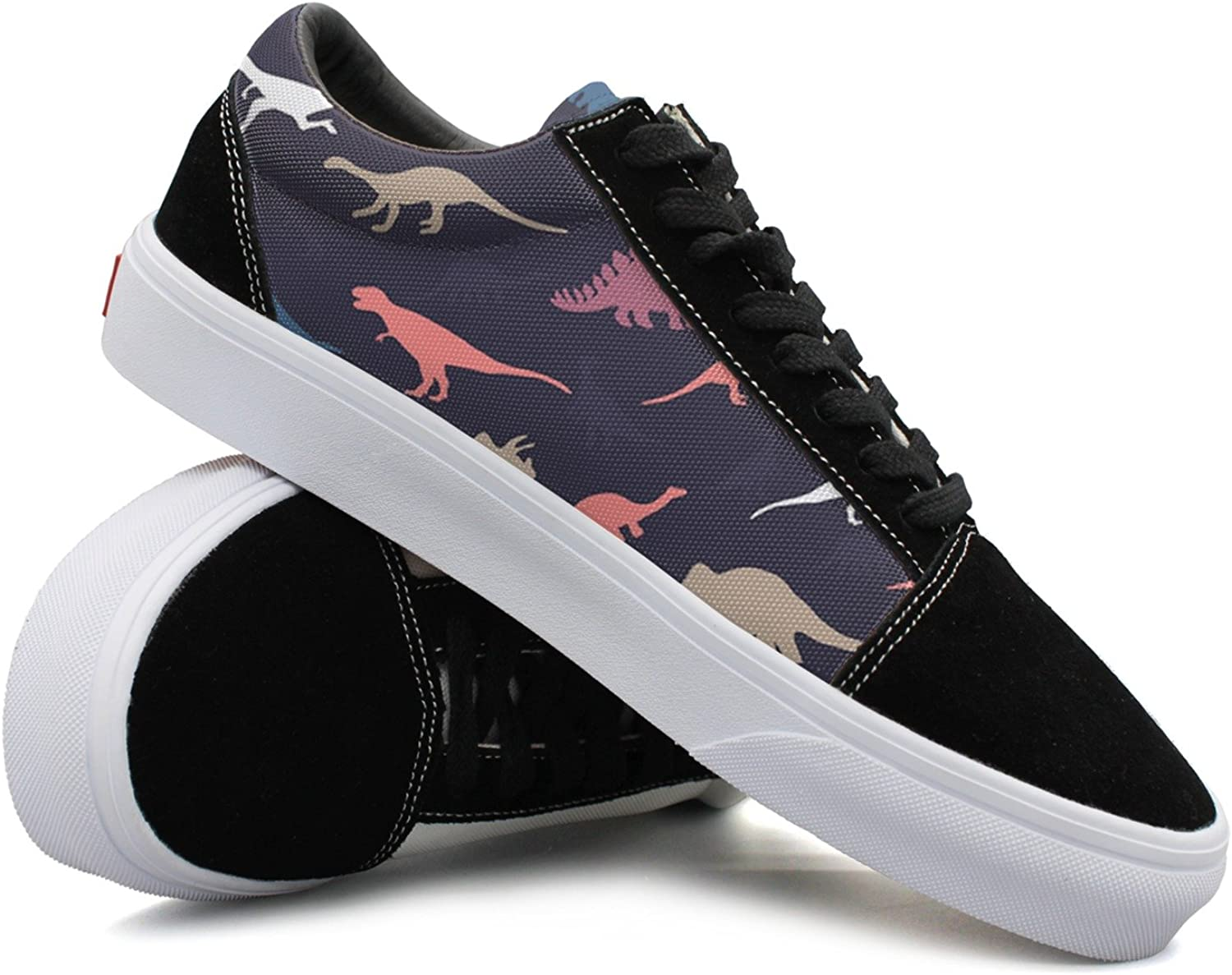 Women Catoon Dinosaur Pattern Comfortable Casual Sneakers