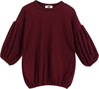 Toddler Baby Girl Sweater Kid Long Sleeve Ruffle Warm Spring Fall Winter Pullover Tops Outfits