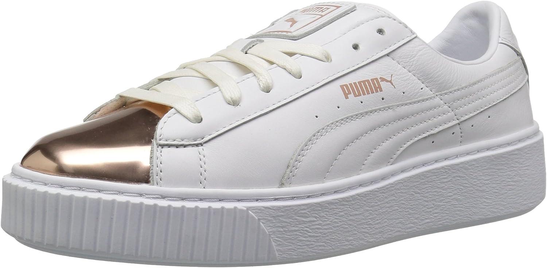 PUMA Women's Basket Platform Metallic Fashion Sneaker