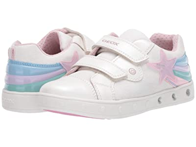 Geox Kids Skylin 5 (Little Kid/Big Kid) (White) Girl