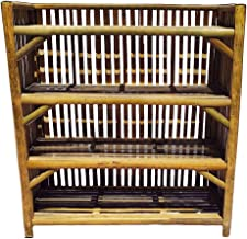 H M Services Bamboo Books and Shoes Rack (Brown, Standard) -2 Pieces Set