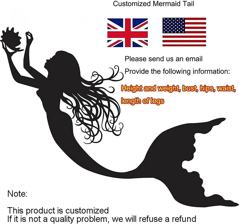 BEROVE 3-Piece Swimsuit Mermaid Tail Girl Mermaid Tail Swimming