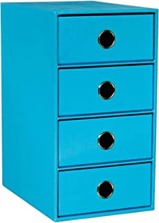 Rössler SOHO Boîte de rangement 4 tiroirs (Bleu vif) (Import Royaume Uni)