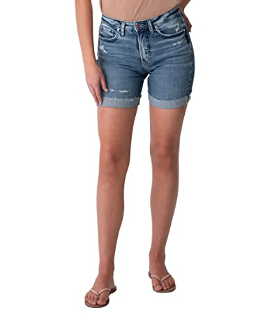 Silver Jeans Co. Sure Thing High-Rise Long Shorts L28505EGX323 Women