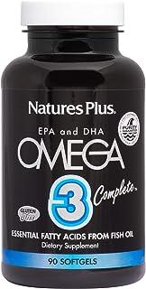 NaturesPlus Omega 3 Complete - 162 mg EPA, 108 mg DHA, 90 Softgels - Fatty Acid Fish Oil Supplement, Joint Health & Immune...