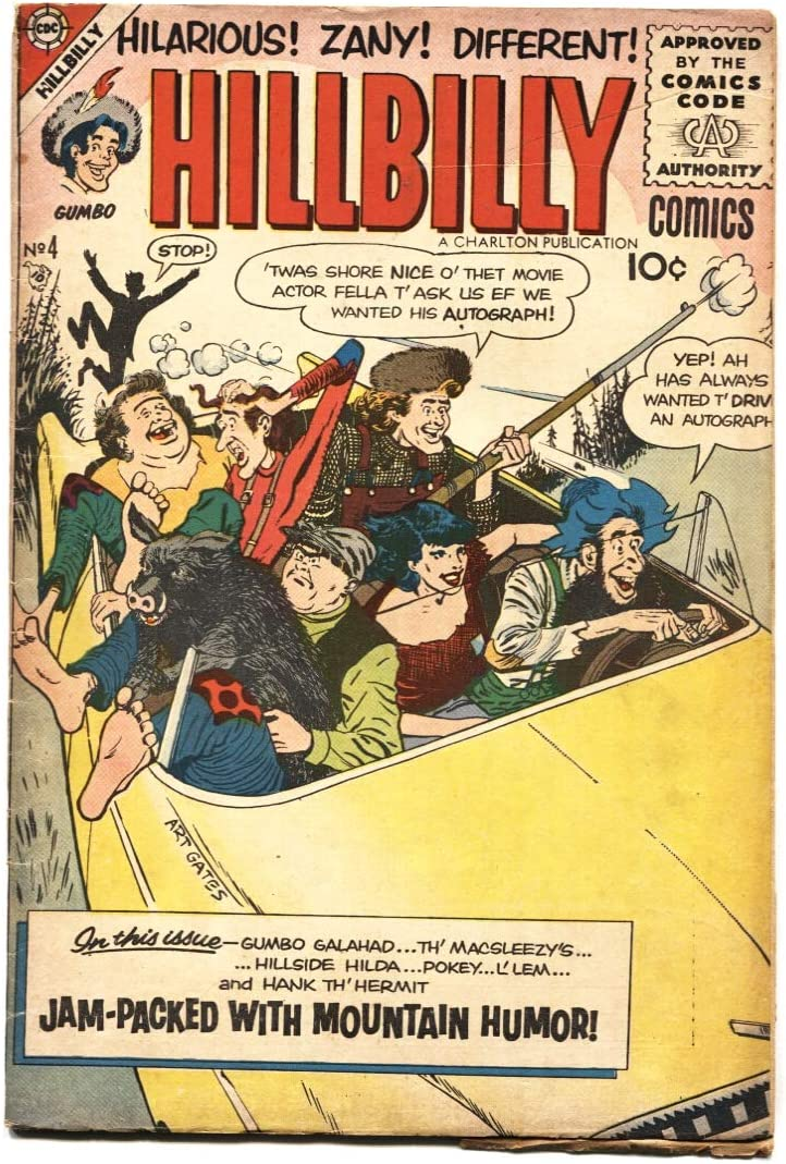 Hillbilly Comics #4 Cheap mail order specialty store Ranking TOP4 1956- Rare V Humor series- Charlton Mountain