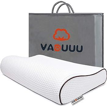 VADUUU 枕 安眠 人気 肩こり まくら 低反発枕 安眠枕 良い通気性 健康枕 いびき防止 快眠枕 仰向き横向き対応 pillow 家族のプレゼント 洗えるマクラ ホワイト