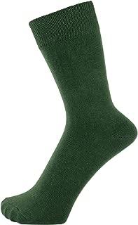 Finest Combed Cotton Dress Socks in Plain Vivid Colours for Men, Women