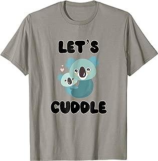 Let's Cuddle Koala Bears Love Heart Graphic T Shirt