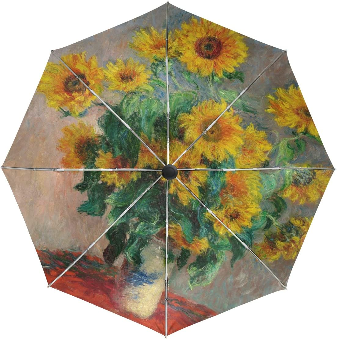 Free Shipping Cheap Bargain Gift baihuishop Monet Painting Windproof Umbrellas Auto 3 Open Close Max 90% OFF