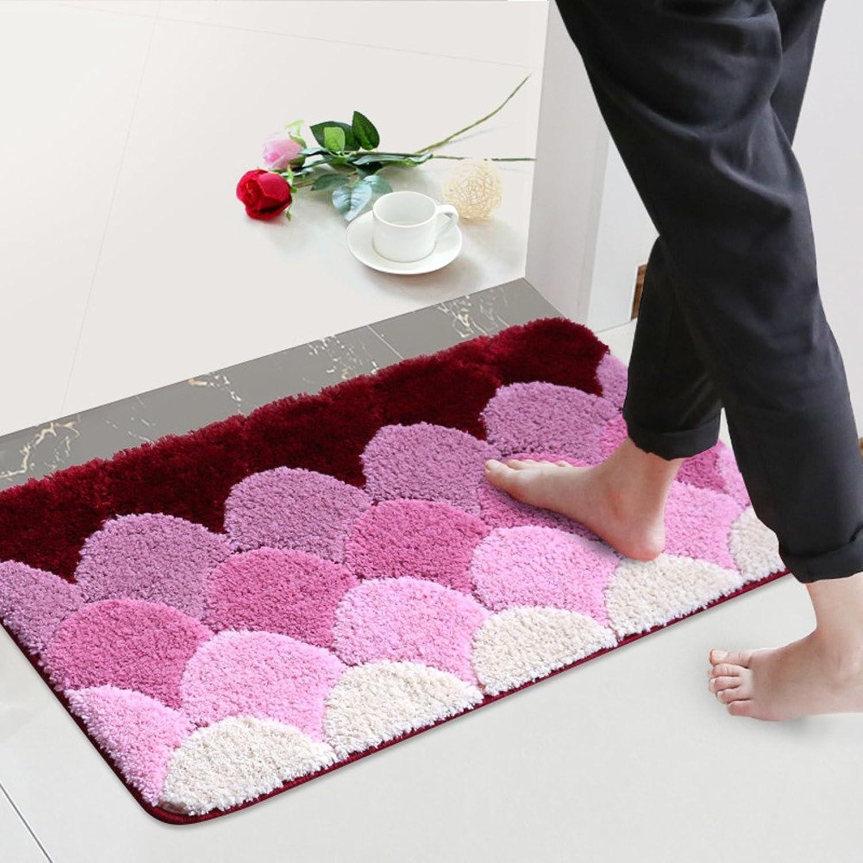 WENRAN Anti Slip Modern Carpet,Doormat Foot pad for Living Room Bedroom Kitchen Rugs for Bathroom Floor-D 80x150cm(31x59inch)