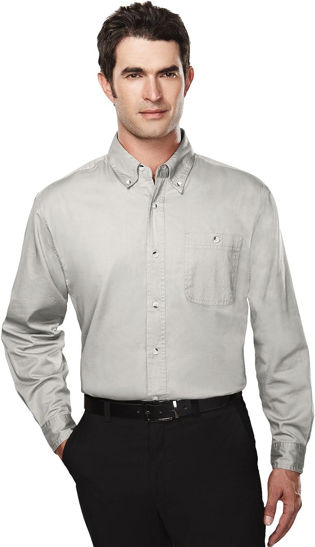 Tri-mountain Mens cotton long sleeve twill shirt. 810TM - KHAKI_6XL