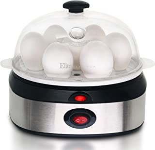 Maxi-Matic EGC-207 Easy Electric Egg Poacher, Omelet & Soft, Medium, Hard-Boiled Measuring Cup Included, 7 Capacity, Stainless Steel