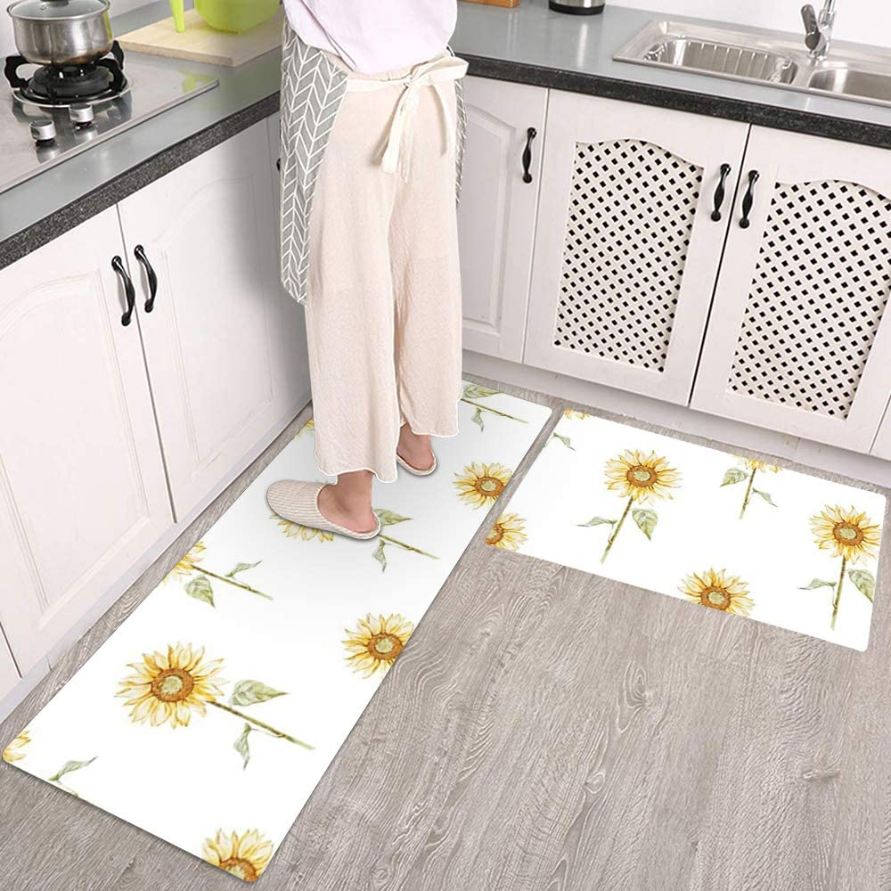 Colorful Star 2 online shop Pieces Kitchen Mats Floor Cu Sunflower Ranking TOP12 Theme for