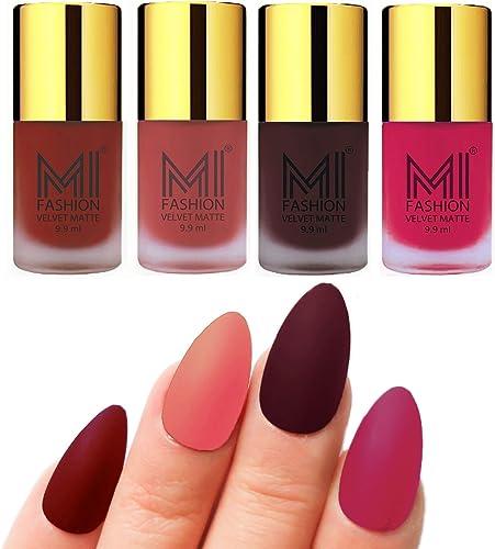 MI Fashion Matte Nail Polish Pack of 4(9.9 Ml Each) product image