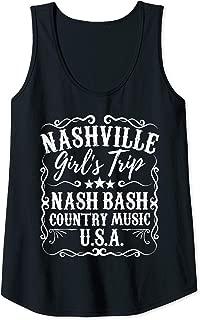 Womens Nashville Girls Trip Nash Bash Weekend Bachelorette Party Tank Top