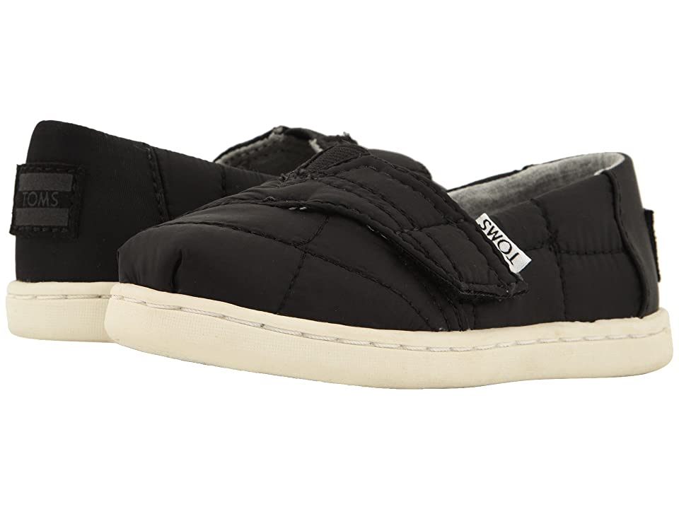 TOMS Kids Alpargata (Infant/Toddler/Little Kid) (Black Quilted) Kid