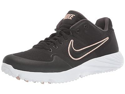Nike Alpha Huarache Elite 2 Turf (Black/Black/White/Thunder Grey) Women