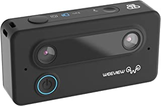 3K WiFi 3D Camera Ultra HD Mini 3D Cam VR-Ready Images and 3D Video Camera Rechargeable 1300mAh Battery, OBS Live Streaming via YouTube, Facebook-Black
