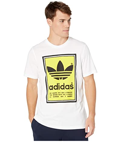 adidas Originals Filled Label Tee (White/Yellow) Men