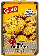 Glad Premium Nonstick Cookie Sheet – Whitford Gold Baking Pan with Raised Diamond Texture, Small
