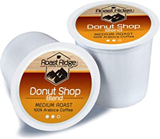 Roast Ridge Coffee Roasters Donut Shop Blend Single Cup Coffee 100 Count Hot Beverage Cups, Compatible with Most Single-Serve Brewing Systems that Accept K-Cups, Including Keurig 2.3