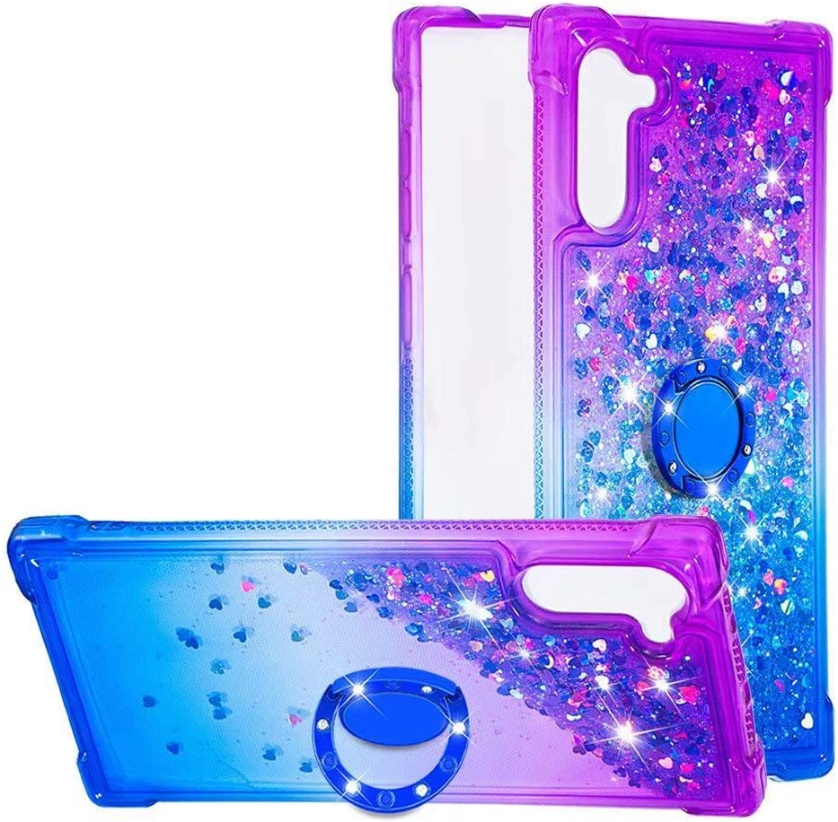 Galaxy Note 10 Hard Case Year-end gift Abtory Glitter Liquid Credence Floating Quicksa