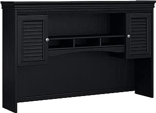 Bush Furniture Fairview Hutch for L Shaped Desk in Antique Black